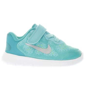 Nike Turquoise Free Run 2 Girls Toddler