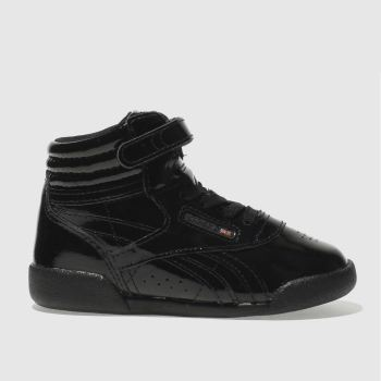 Reebok Black Fresstyle Hi Patent Girls Toddler