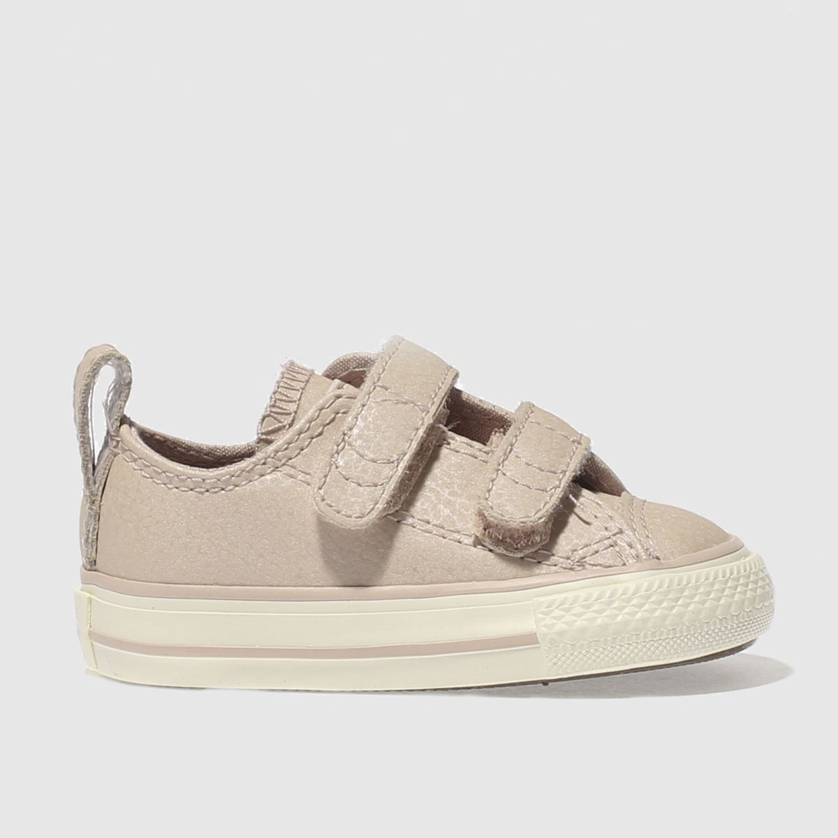 Converse Pale Pink Al Star Lo 2v Girls Toddler Trainers