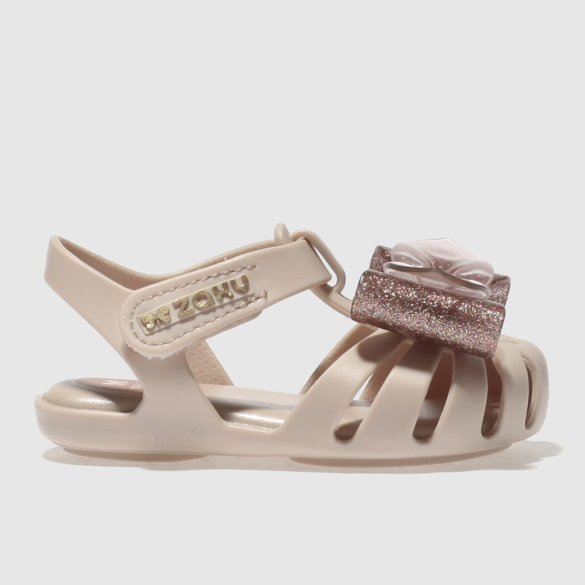 Zaxy Zaxy Pale Pink Baby Glamour Bow Girls Toddler Sandals