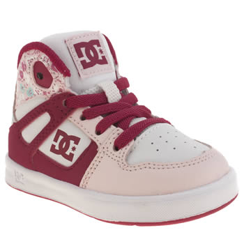 Dc Shoes Pink Rebound Se Girls Toddler