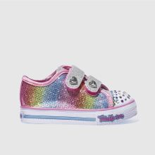 Skechers Pink & Silver Step Up Sparkle Kicks Girls Toddler