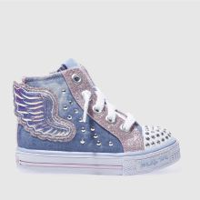Skechers Blue Shuffles Wonder Wings Girls Toddler