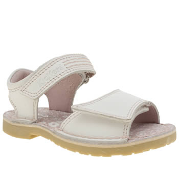 Kickers White Adlar San Girls Toddler