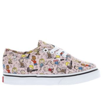 Vans Pink Authentic Peanuts Dance Girls Toddler