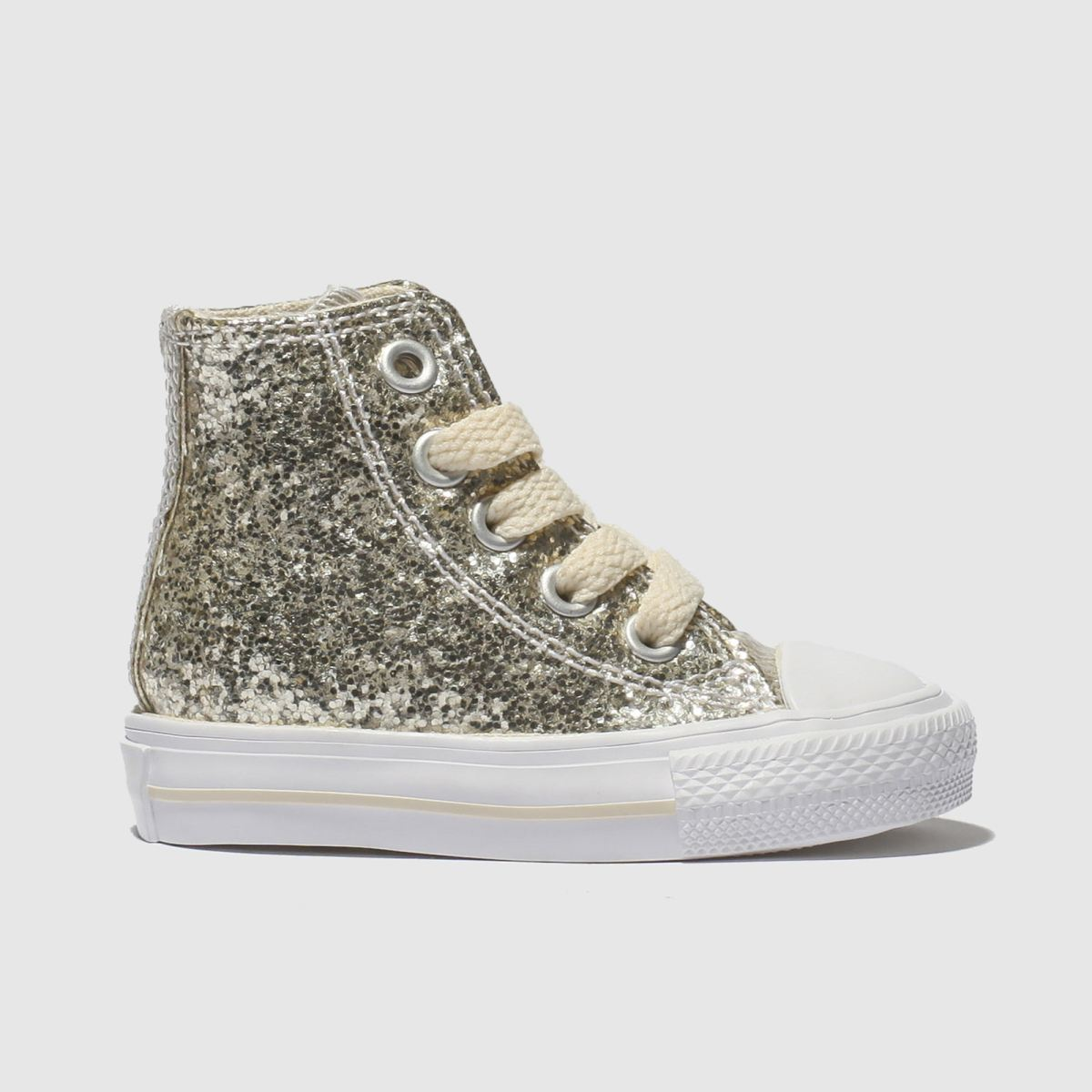 Converse Gold All Star Hi Glitter Trainers Toddler