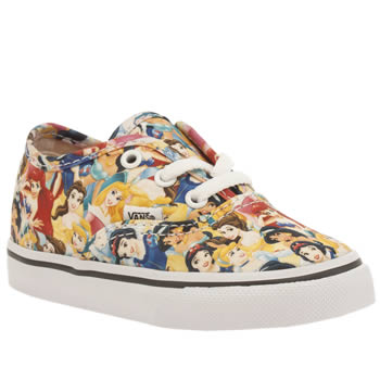 Vans Multi Authentic Disney Princesses Girls Toddler