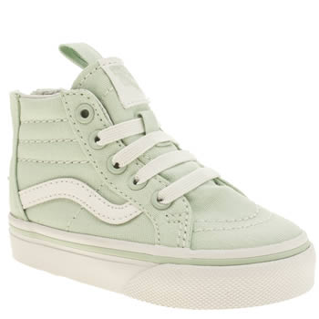 Girls Vans Light Green Sk8-hi Zip Girls Toddler