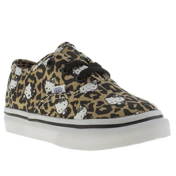 Vans Black & Brown Authentic Hello Kitty Girls Toddler