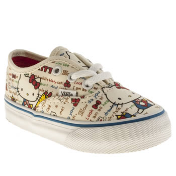 Vans Multi Authentic Hello Kitty Girls Toddler