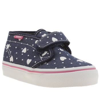 Vans Navy & White Chukka Girls Toddler
