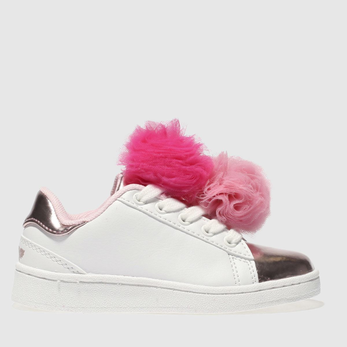 Lelli Kelly Lelli Kelly  White & Pink Pon Pon Sneaker Girls Toddler Trainers