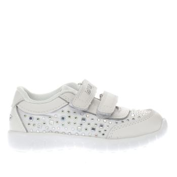 Lelli Kelly White & Silver Eva Sneaker Girls Toddler