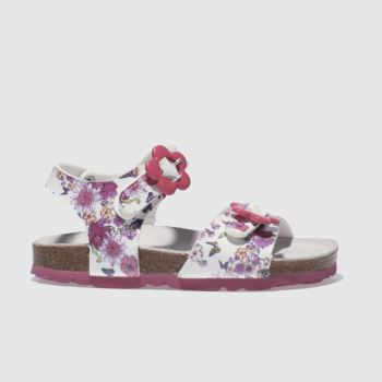 LELLI KELLY  WHITE & PINK SONIA SANDAL GIRLS TODDLER SANDALS