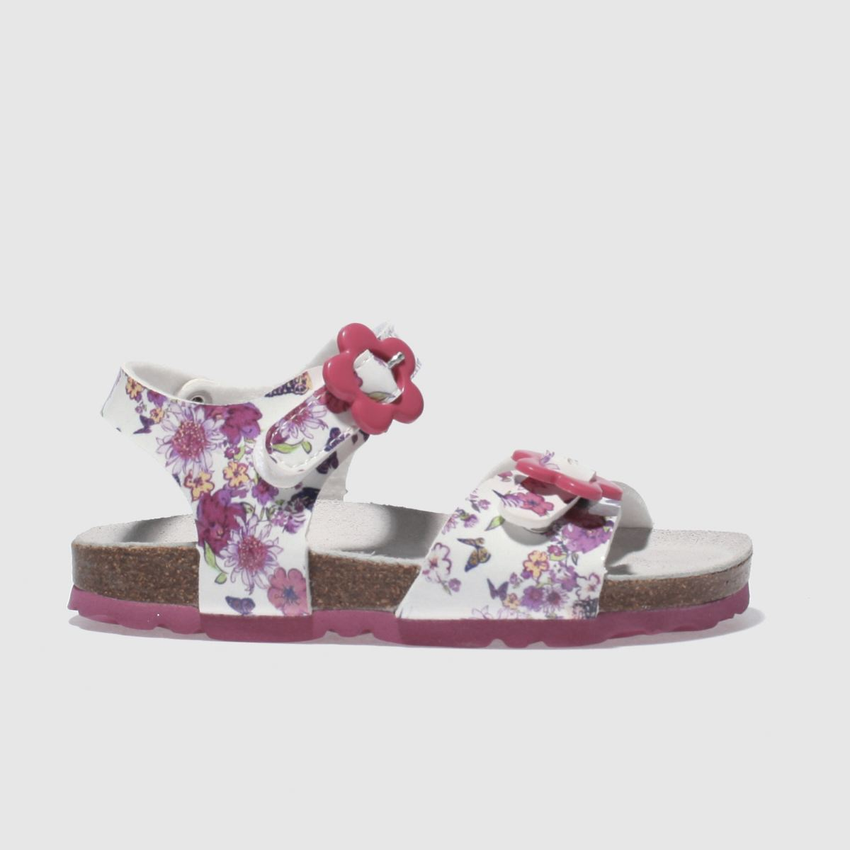 Lelli Kelly Lelli Kelly  White & Pink Sonia Sandal Girls Toddler Sandals