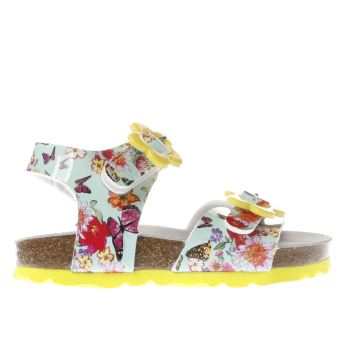 Lelli Kelly Turquoise & Yellow Sonia Sandal Girls Toddler