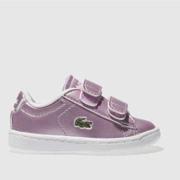 Lacoste Lilac Carnaby Evo Girls Toddler