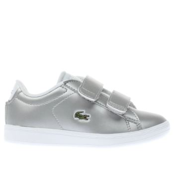 Lacoste Silver Carnaby Evo Girls Toddler