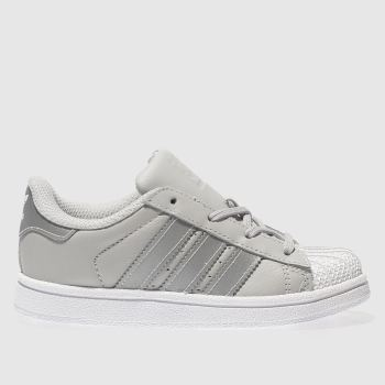 Adidas Grey Superstar Girls Toddler
