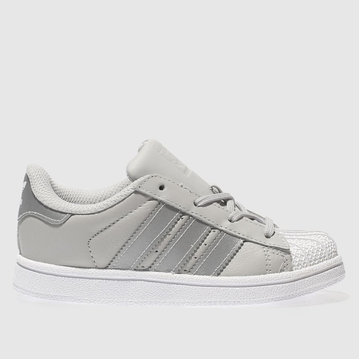 adidas light grey superstar Girls Toddler Trainers