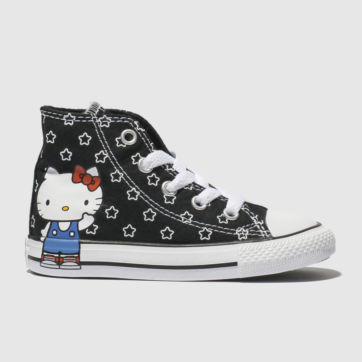 Converse Black & White All Star Hello Kitty Hi Trainers Toddler
