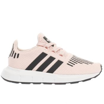 ADIDAS PINK & BLACK SWIFT RUN GIRLS TODDLER TRAINERS