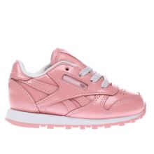 Reebok Pink Classic Leather Girls Toddler