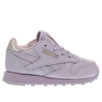 Reebok Lilac Classic Leather Girls Toddler