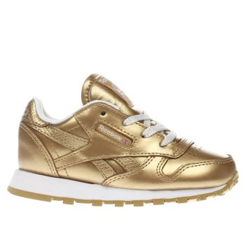 Reebok Bronze Classic Leather Girls Toddler