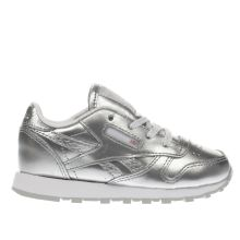 Reebok Silver Classic Leather Girls Toddler