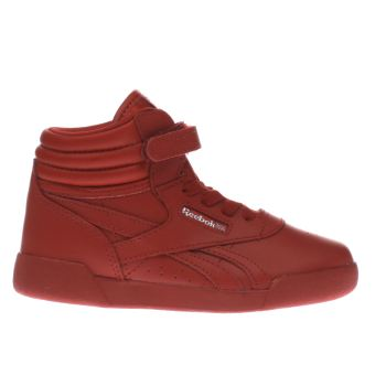 Reebok Red Freestyle Hi Girls Toddler