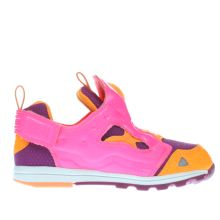 Reebok Pink & Orange Versa Pump Fury Girls Toddler