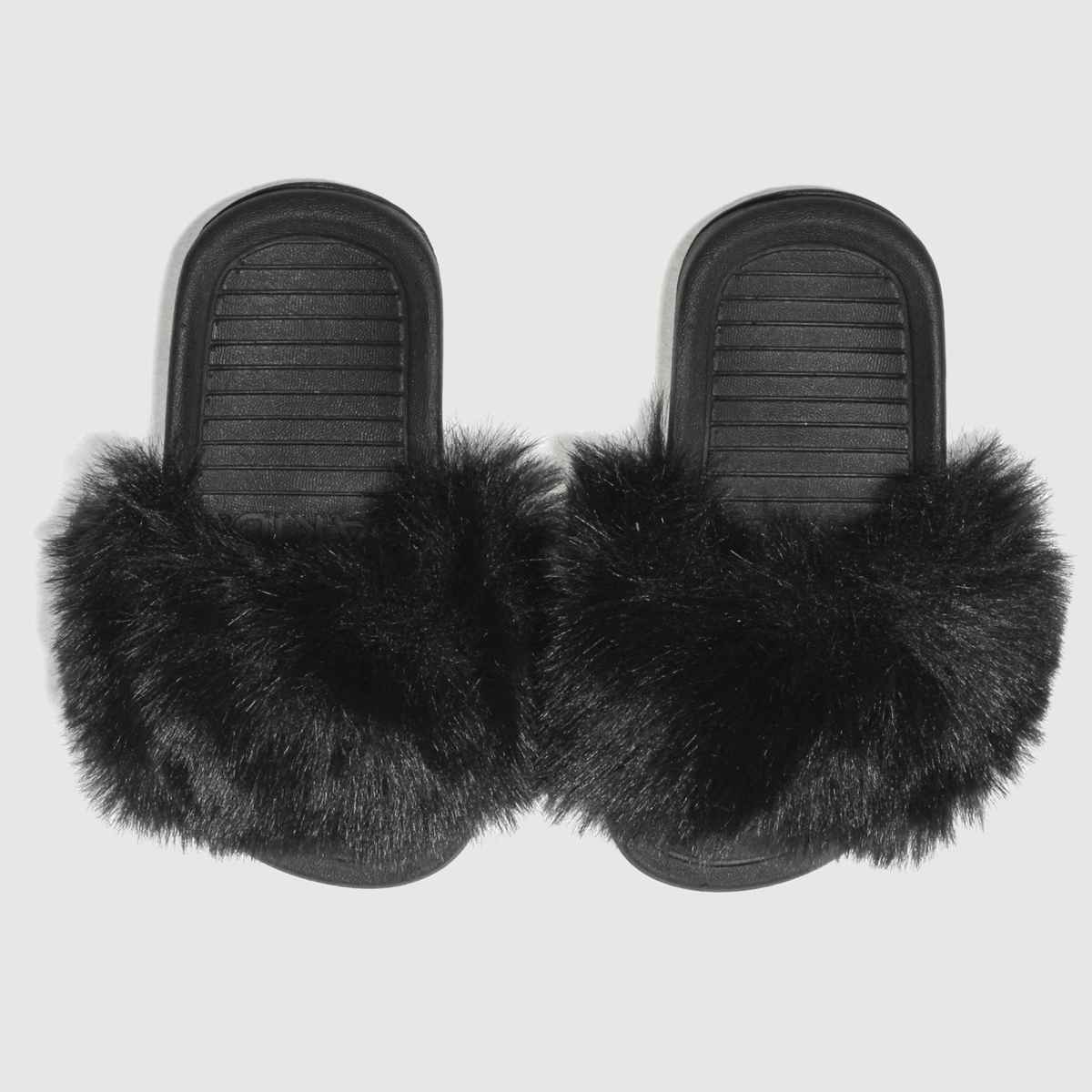 Akid Akid Black Aston Girls Toddler Sandals