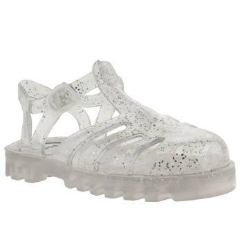 Girls Juju Jellies Clear Sammy Girls Toddler