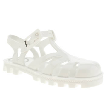 Juju Jellies White Sammy Girls Toddler