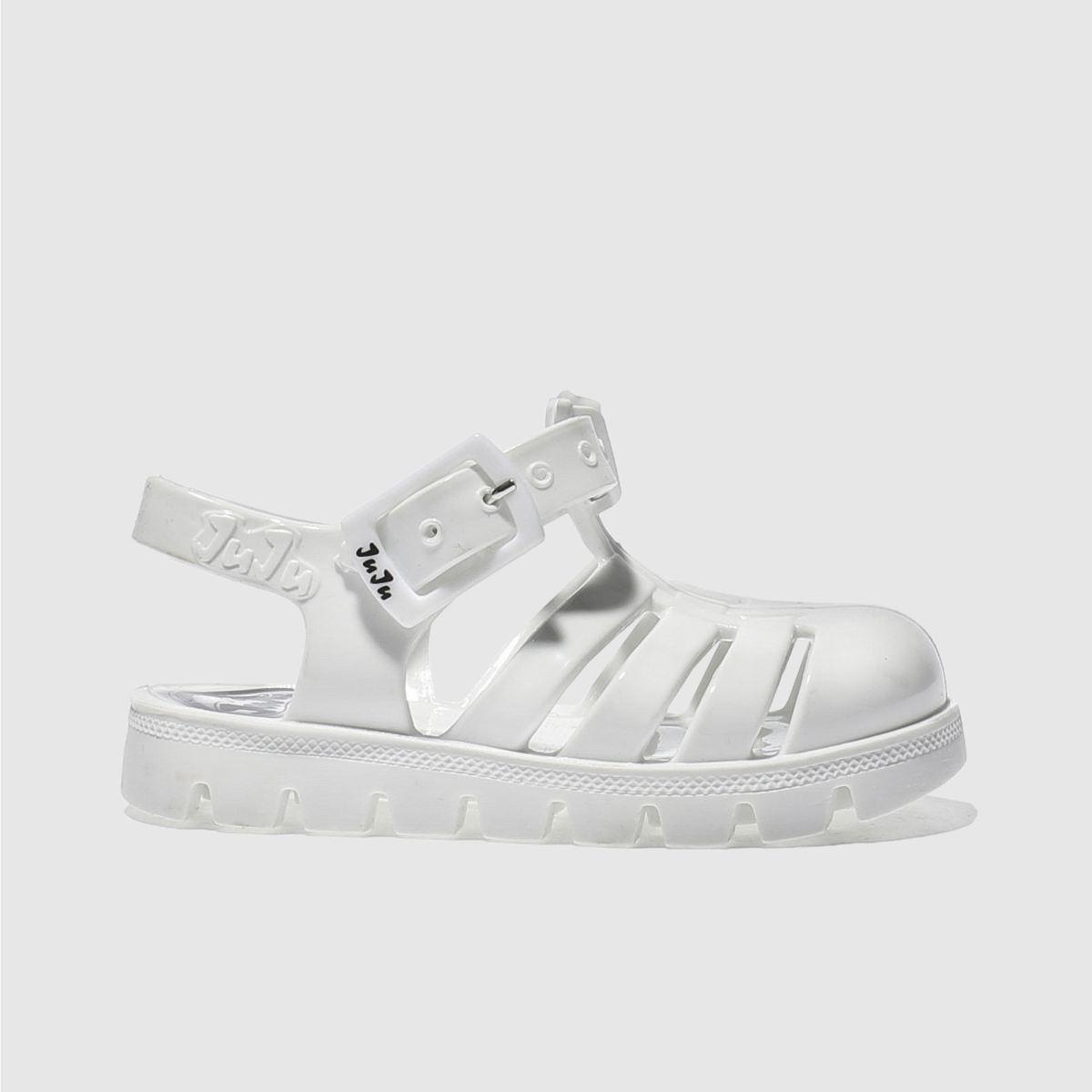 juju jellies Juju Jellies White Nino Girls Toddler Sandals
