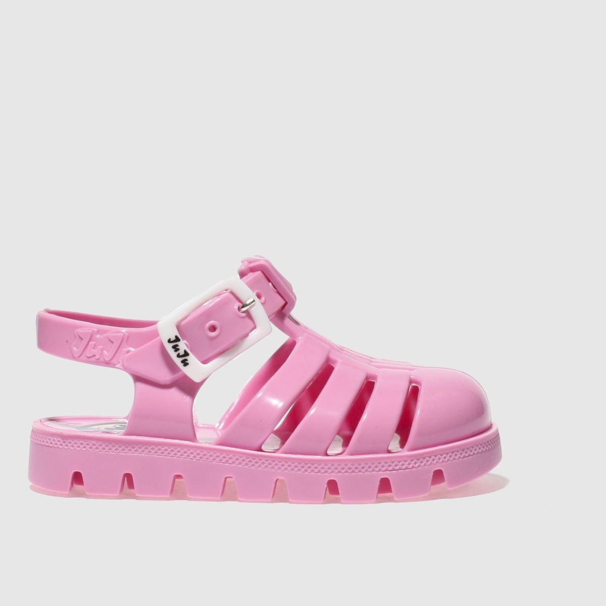 juju jellies Juju Jellies Pale Pink Nino Girls Toddler Sandals