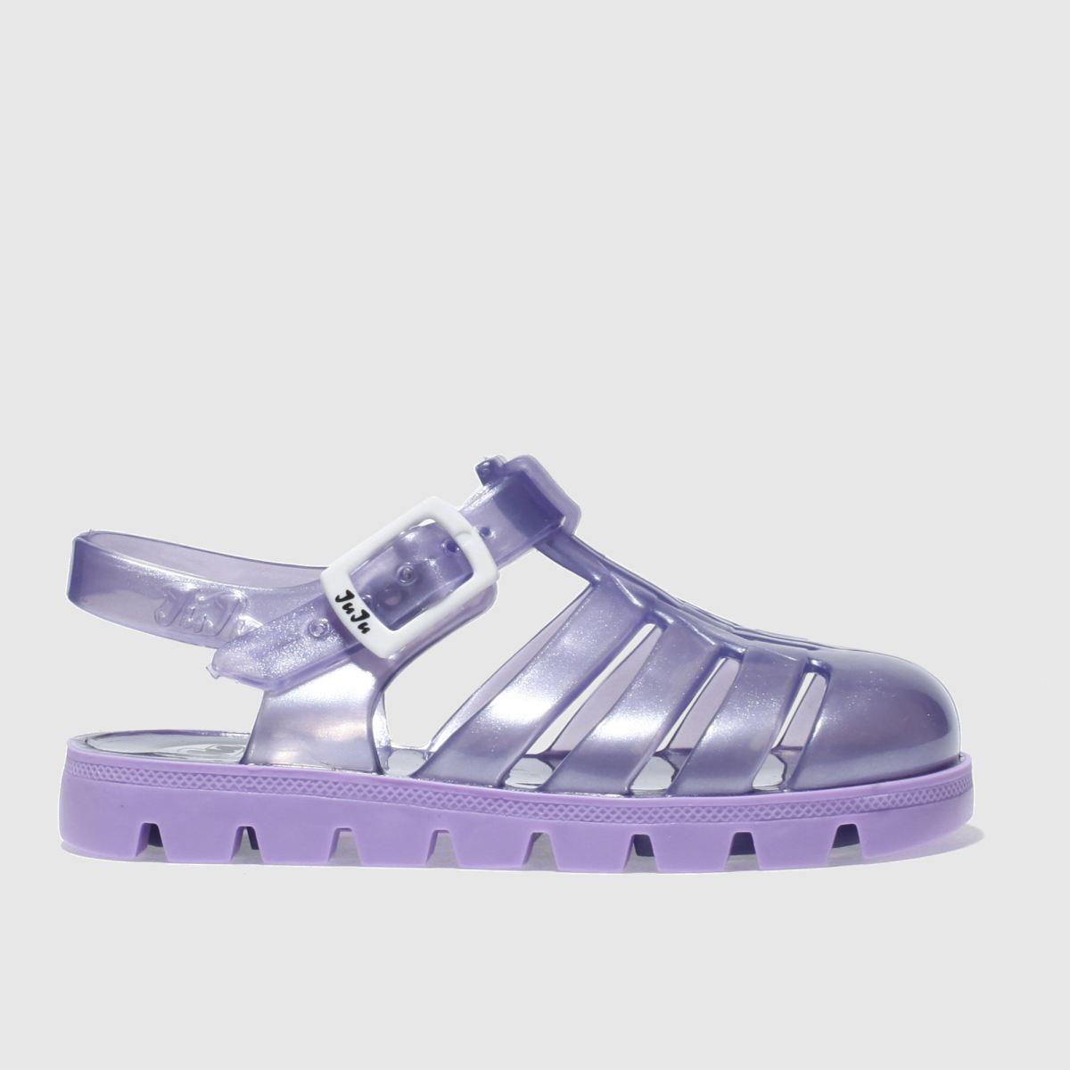 juju jellies Juju Jellies Purple Nino Girls Toddler Sandals