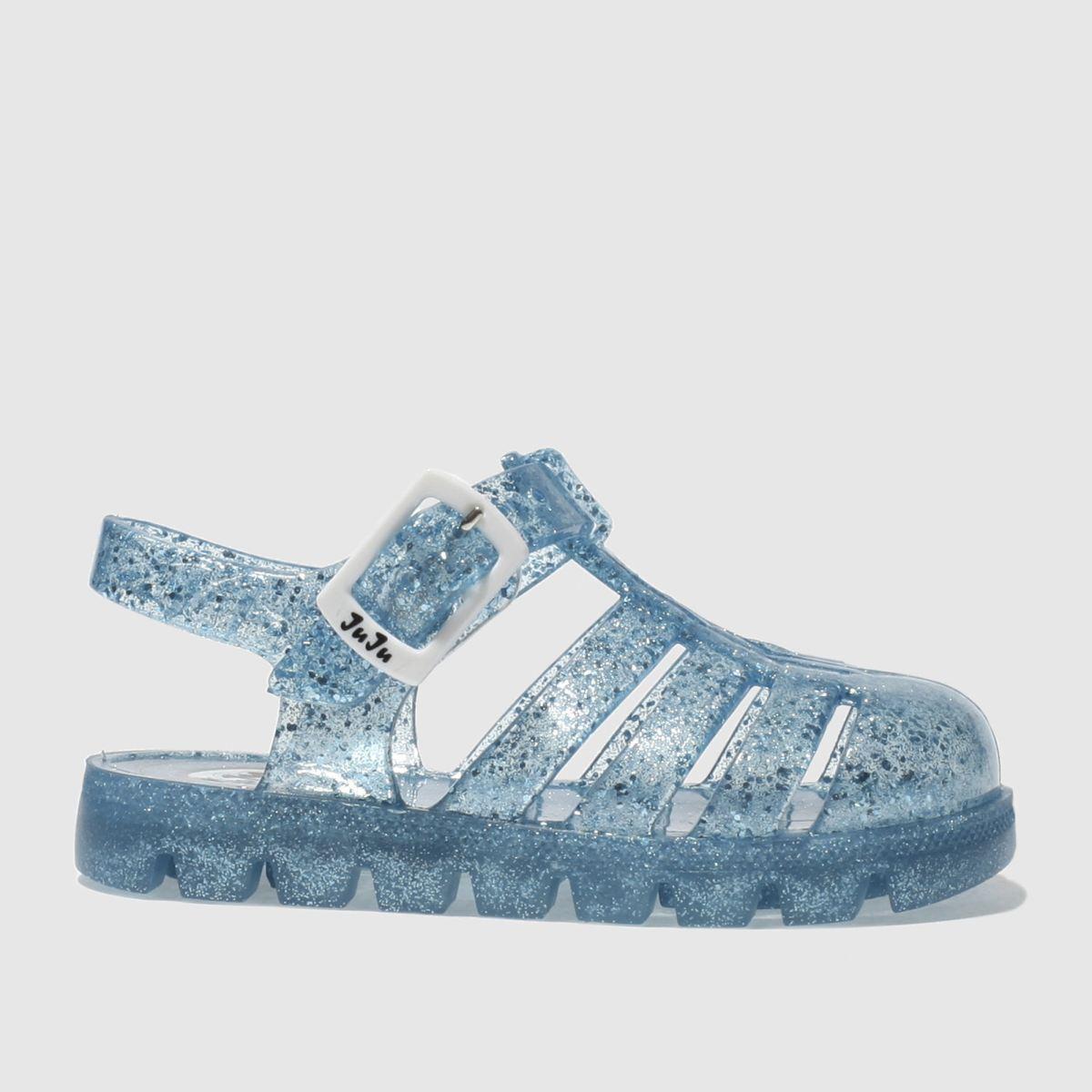 juju jellies Juju Jellies Blue Nino Girls Toddler Sandals