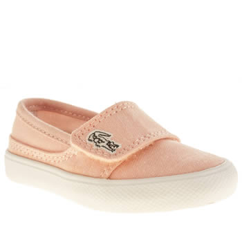 Lacoste Pale Pink Marice Girls Toddler