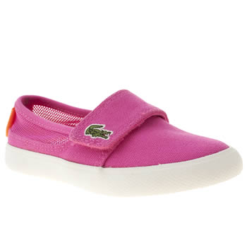 kids lacoste pink marice trainers