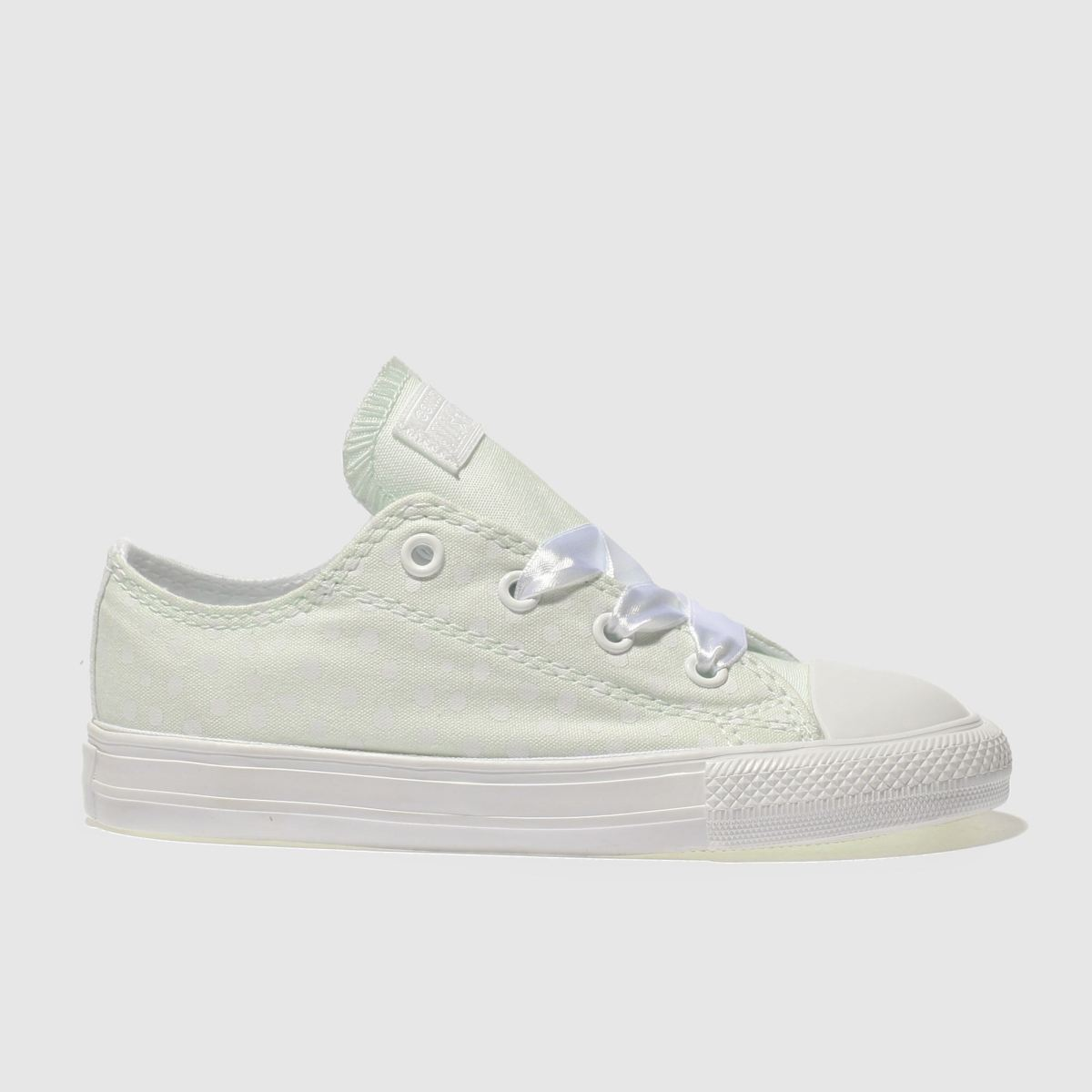 Converse Light Green All Star Lo Polka Dot Girls Toddler Toddler