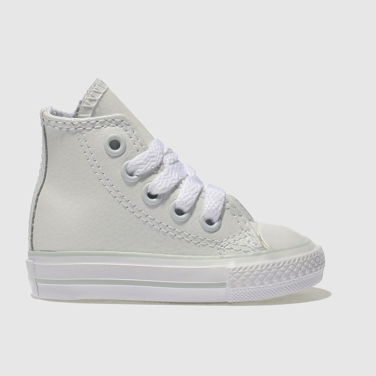 Converse White All Star Hi Leather Girls Toddler Toddler