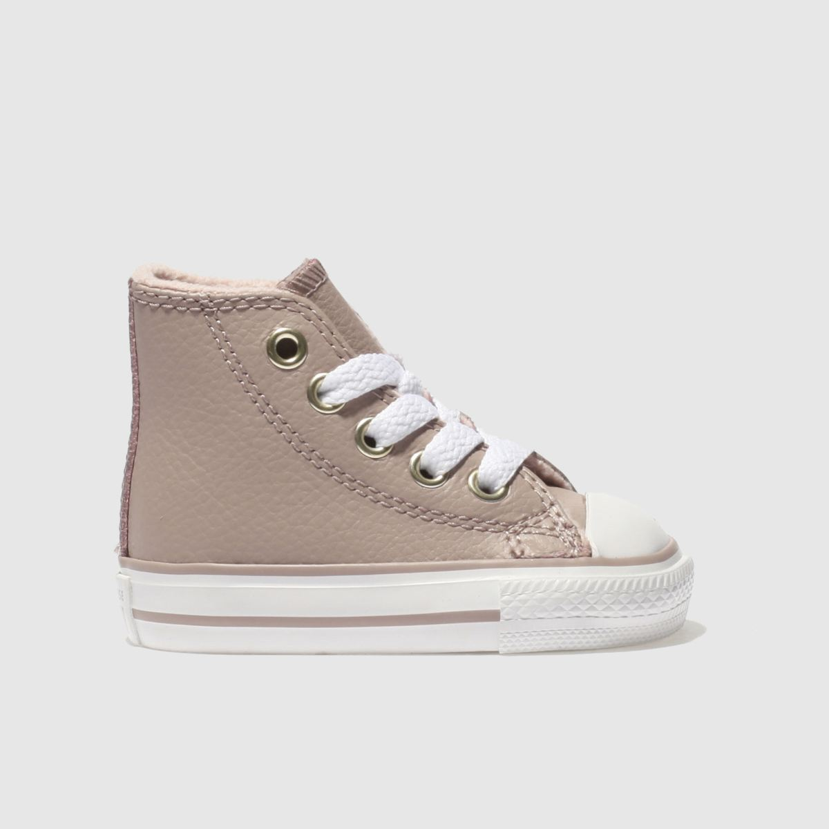 Converse Pale Pink All Star Hi Leather Trainers Toddler