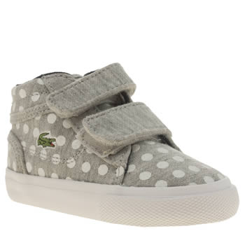 Lacoste Grey Popstop Polka-dot Girls Toddler