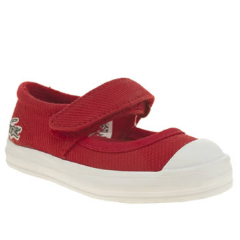 Lacoste Red Zayla Girls Toddler