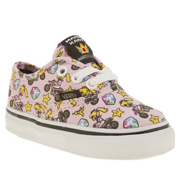 Vans Pale Pink Nintendo Princess Peach Girls Toddler