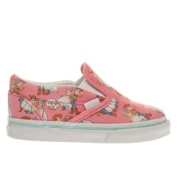 Vans Pink Slip On Toy Story Woody & Bo Girls Toddler
