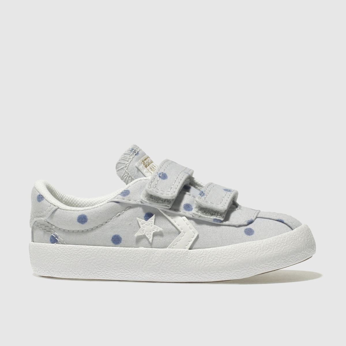 Converse Light Grey Breakpoint 2v Girls Toddler Trainers