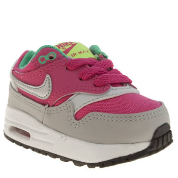 Girls Nike Pink Air Max 1 Girls Toddler
